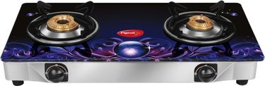 Pigeon Smart Plus Zeus Manual Ignition Gas Cooktop (2 Burner)  Price in India