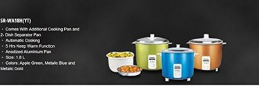 Panasonic SR-WA18H (YT) 1.8 L Automatic Rice Cooker Price in India