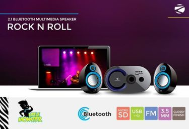 Zebronics Rock N Roll 2.1 Home Audio Speaker Price in India