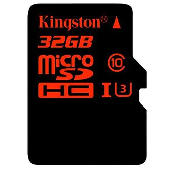 Kingston 32GB MicroSDHC Class 10 (90MB/s) UHS-1/U3 Memory Card (With Adapter) Price in India