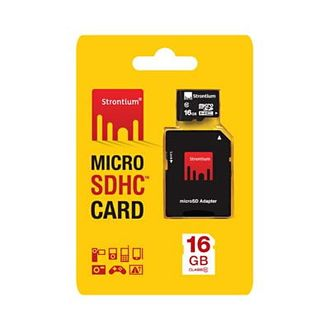 Strontium 16GB MicroSDHC Class 10 (10MB/s) Memory Card Price in India