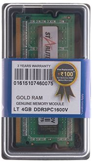 STARLITE LT PC1600V-Gold 4GB DDR3 Laptop Ram Price in India