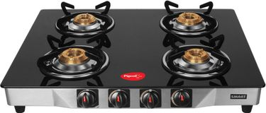 Pigeon Blackline Smart SS Manual Ignition Gas Cooktop (4 Burners) Price in India