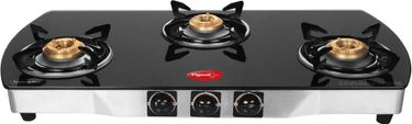 Pigeon Blackline Oval SS Manual Ignition Gas Cooktop (3 Burners) Price in India