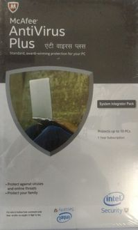 McAfee Antivirus Plus 2016 10PC 1 Year Price in India