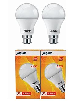 Jaquar 7W Prima B22 LED Bulb (White, Pack of 2) Price in India