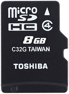 Toshiba 8GB MicroSDHC Class 4 Memory Card (With Adapter) Price in India