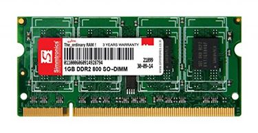 Simmtronics 1GB DDR2 800Mhz Laptop Ram Price in India