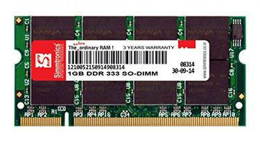 Simmtronics 1GB DDR1 333Mhz Laptop Ram Price in India