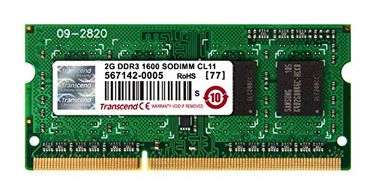 Transcend (TS256MSK64V6N) 2GB DDR3 Laptop Ram Price in India