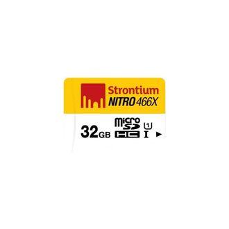 Strontium Nitro 466X 32GB MicroSDHC Class10 (65MB/s) Memory Card Price in India
