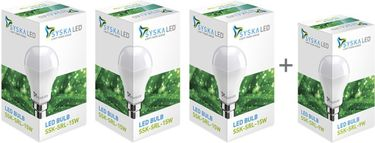 Syska 15 W LED Bulbs (Pack of 3) With Free 9W LED Bulb Price in India