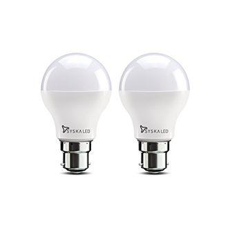 Syska SSK-SRL-7W 7W B22 LED Bulb (White, Pack of 2) Price in India