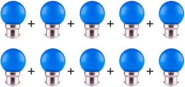 Ecosaver 0.5W B22 LED Bulb (Blue, Pack of 10) Price in India
