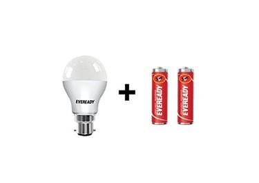 Eveready 9W B22 LED Bulb (Cool Day Light) With Free 2 Batteries Price in India