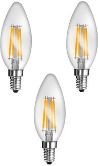 Imperial JP02 4W E14 LED Filament Bulb (Yellow, Pack Of 3) Price in India