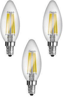 Imperial 16166 JP02 4W E14 LED Filament Bulb (White, Pack Of 3) Price in India