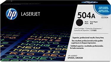 HP 504A (CE250A) Black LaserJet Toner Cartridge Price in India