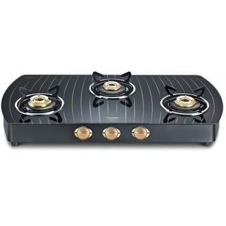 Prestige Premia Schott GTS 03L Gold Gas Cooktop (3 Burner) Price in India