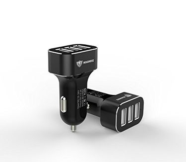 MoArmouz 5.2A 3-Port Portable Car Charger Price in India