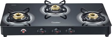 Prestige GT 03 L AI 3 Burner Glass Gas Cooktop Price in India