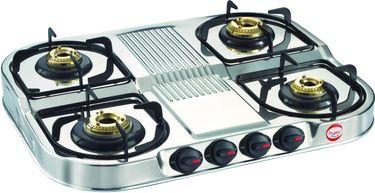 Prestige DGS 04 SS 4 Burner Gas Cooktop Price in India