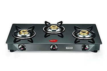 Pigeon Carbon 3 Burner Glass Gas Cooktop Price in India