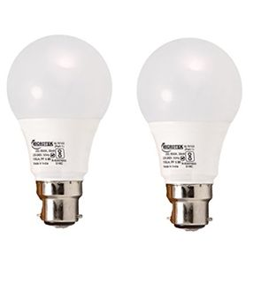 Microtek 5W B22 LED Bulb (White, Pack Of 2) Price in India