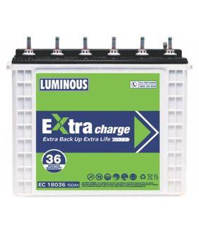 Luminous Extra Charge EC 18036 150Ah Tubular Battery Price in India