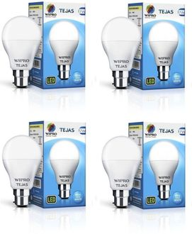 Wipro Tejas 7W B22 LED Bulb (Cool Day Light, Pack Of 4) Price in India
