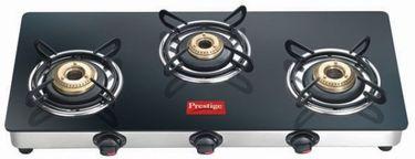 Prestige GTM03 Glass Manual Gas Stove (3 Burner)  Price in India