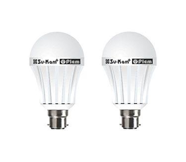 Su-Kam Fiem 7W B22 LED Bulb (White, Pack of 2) Price in India