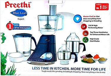 Preethi MG -214 Blue Leaf Expert 750W Mixer Grinder Price in India