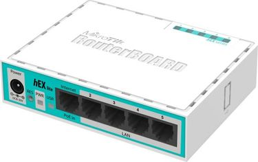 MikroTik RouterBOARD hEX lite (RB750r2) 5 ports Router Price in India