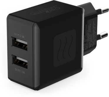 QuantumZero QZ-WC07  3.4A Dual Port Charger Price in India