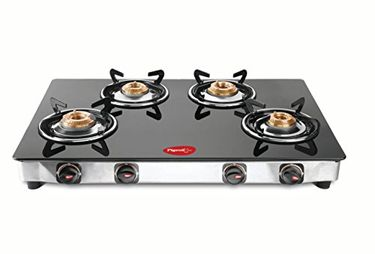 Pigeon Square ZZ 4 Burner Glass Top Gas Cooktop Price in India