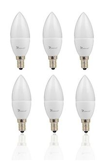 Syska 5W E14 LED Candle Bulb (Pack of 6, Golden Yellow) Price in India