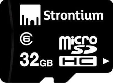 Strontium 32GB MicroSDHC Class 6 Memory Card Price in India