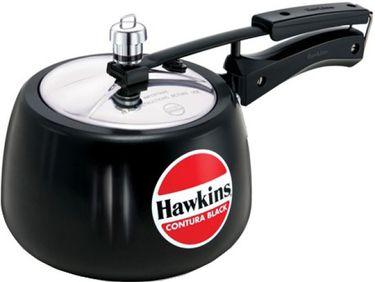 Hawkins Contura Black CB30 Aluminium 3 L Pressure Cooker (Inner Lid)  Price in India
