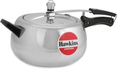 Hawkins Contura HC50 Aluminium 5 L Pressure Cooker (Inner Lid) Price in India