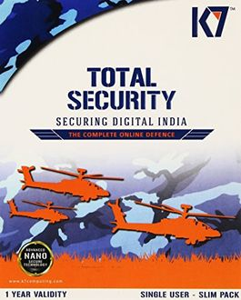 K7 Total Security 2017 2PC 1 Year Antivirus Price in India