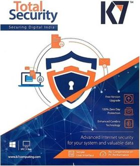 K7 Total Security 2017 6 PC 1 Year Anitvirus Price in India