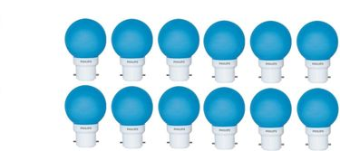 Philips 0.5W B22 Standard LED Bulb (Blue, Pack Of 12) Price in India