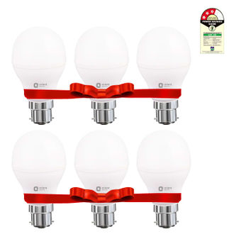 Orient 9W B22 LED Bulb (White, Pack Of 6) Price in India