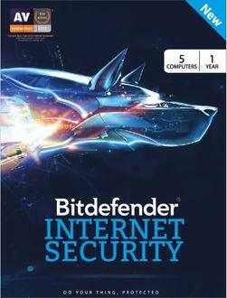 Bitdefender Internet Security 2017 5 PC 1 Year Antivirus Price in India