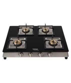 Hindware Lorenzo 4B 4 Burner Manual Gas Cooktop Price in India