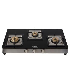 Hindware Lorenzo 3B 3 Burner Manual Gas Cooktop Price in India