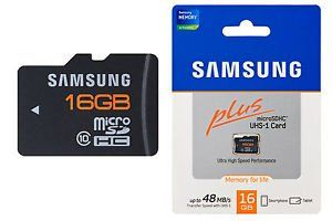Samsung Plus 16GB MicroSDHC Class 10 (48MB/s) Memory Card Price in India