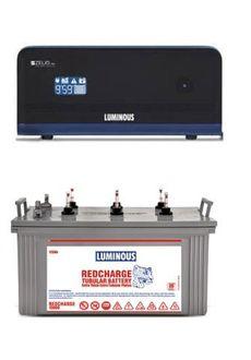 Luminous Zelio1100 900VA Inverter (With RC 15000 120Ah Tubular Battery) Price in India