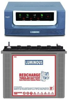 Luminous Eco Volt 1050 900VA Inverter (With RC18000 Tubular Battery) Price in India